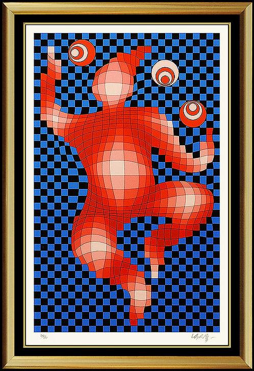 """Juggler"" by Victor Vasarely"