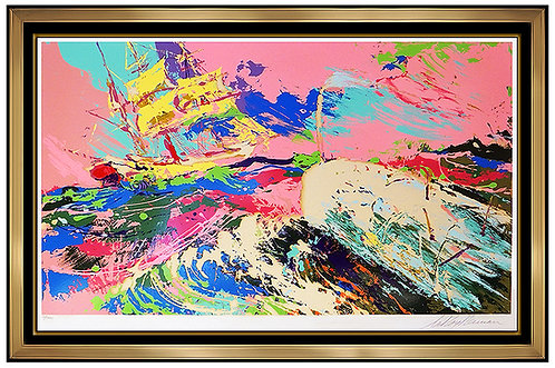 """Moby Dick Assaulting the Pequod"" by Leroy Neiman"