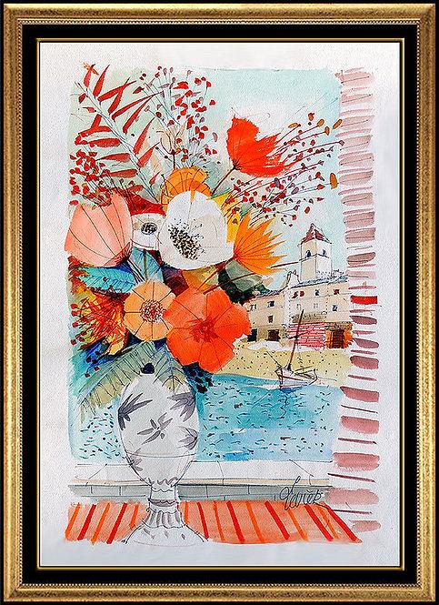"""""""Fleurs au bord de la Mar"""" by Charles Levier"""