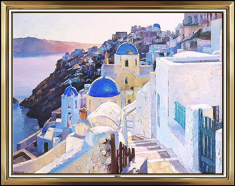 """Original Santorini Coast"" by Howard Behrens"