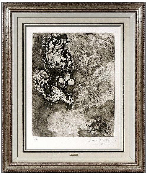 """""""Fables de La Fontaine: Les Deux Coqs"""" by Marc Chagall"""