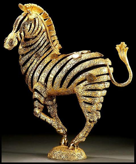 """Golden Zebra"" by Jiang Tie-Feng"