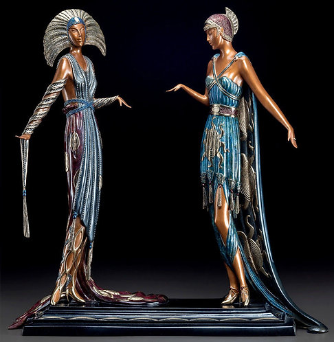 """Two Vamps - Sculpture"" by Erte"