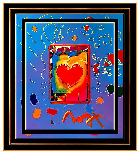 """Original Heart with Beauty Profile"" by Peter Max"