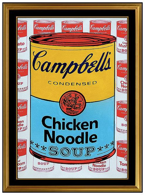 """Original Campbell's Chicken Noodle Soup"" by Steve Kaufman"