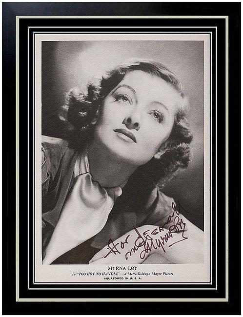 """Myrna Loy Signed Photograph"""