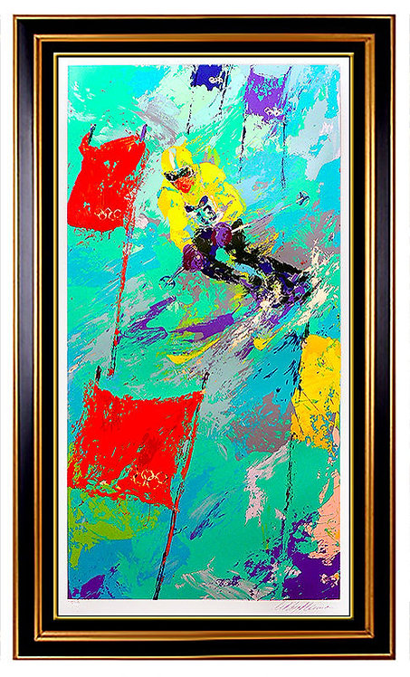 """Winter Olympics Skiing"" by Leroy Neiman"