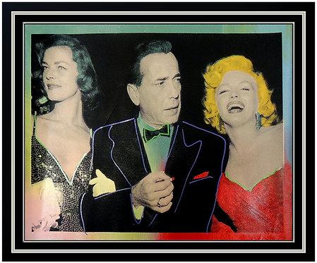 """Bacall, Bogart & Monroe"" by Steve Kaufman"