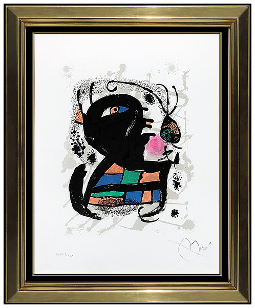 """""""Lithographie III: Plate 6"""" by Joan Miro"""