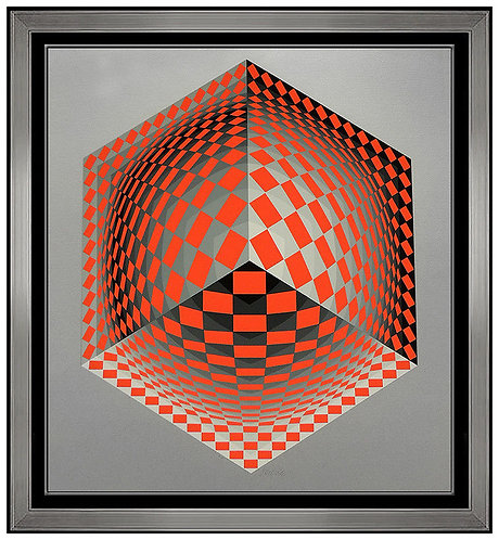 """Composition Cinetique Cube"" by Victor Vasarely"