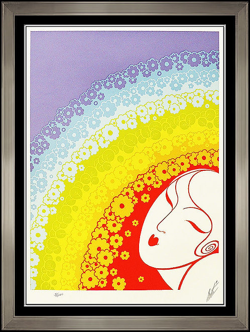 """""""Rainbow In Blossom"""" by Erte"""