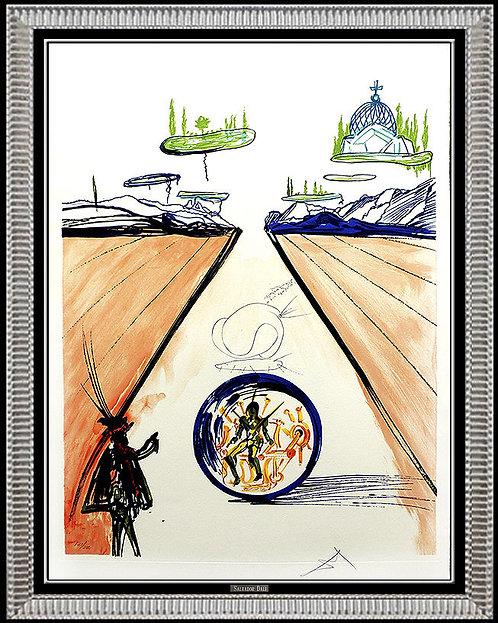 """Intra-Uterine Paradisiac Locomotion"" by Salvador Dali"
