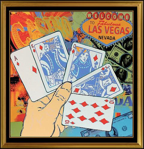 """""""Las Vegas Poker"""" by Steve Kaufman"""