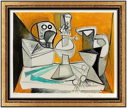"""""""Tete de Morte, Lampe Cruches et Poireaux"""" by Pablo Picasso"""