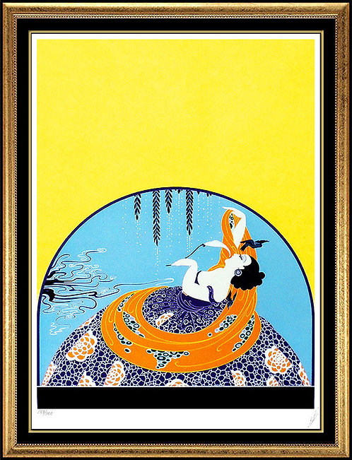 """""""After the Rain"""" by Erte"""