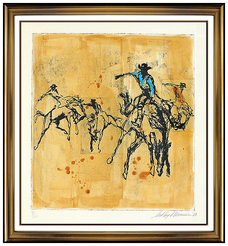 """Rodeo"" by LeRoy Neiman"