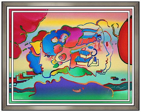 """Three Faces"" by Peter Max"