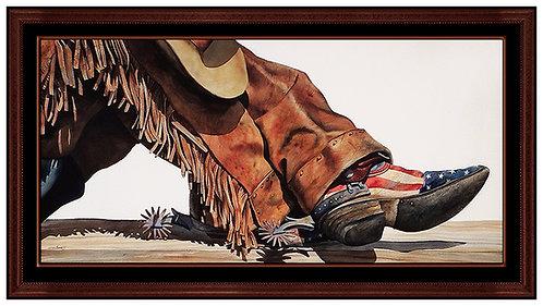 """Original Patriot Cowboy"" by Nelson Boren"