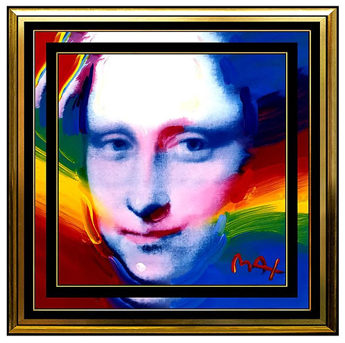 """Original Mona Lisa Portrait"" by Peter Max"