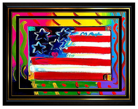 """Original Flag with Heart"" by Peter Max"