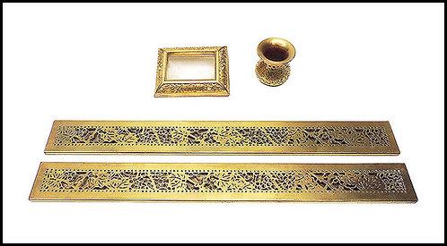 """4 Piece Bronze Desk Set"" by Louis Comfort Tiffany"