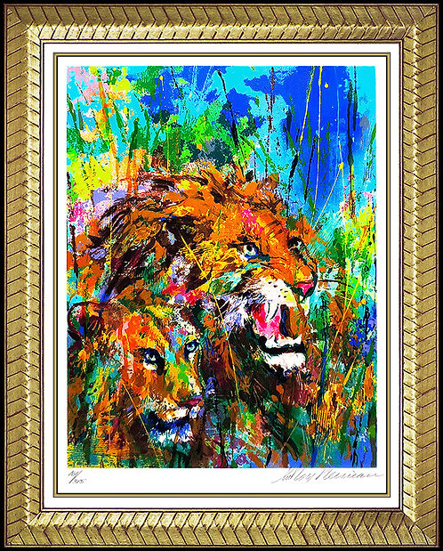"""Lions"" by Leroy Neiman"