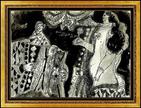 """""""Femme Nue Entre Asphalte et Ciel Gris"""" by Theo Tobiasse"""