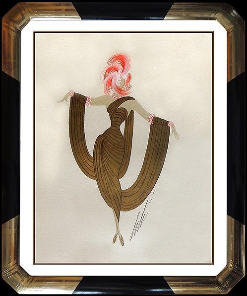 """""""Flamingo Chanteuse Original"""" by Erte"""