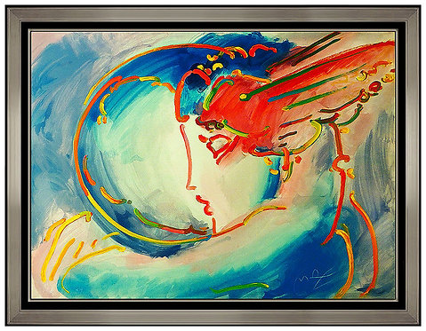 """I Love the World"" by Peter Max"