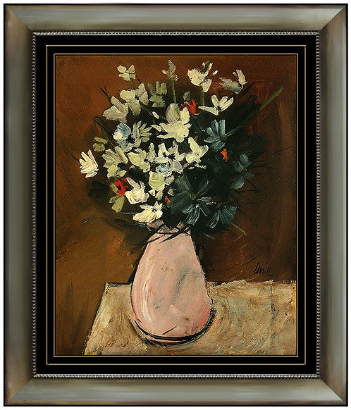 """""Original Pink Vase of Flowers"" by Charles Levier"