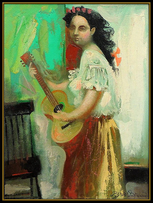 """""""Original Woman with Guitar"""" by Byron Browne"""