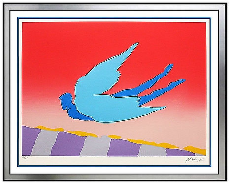 """Pink Sky Flyer"" by Peter Max"