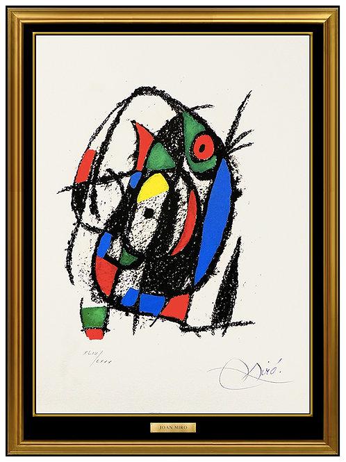 """Lithograph II (M.1040)"" by Joan Miro"