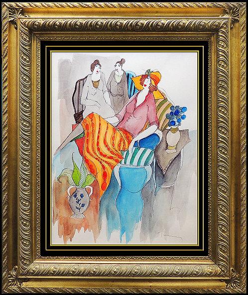 """Colorful Matriarch"" by Itzcak Tarkay"