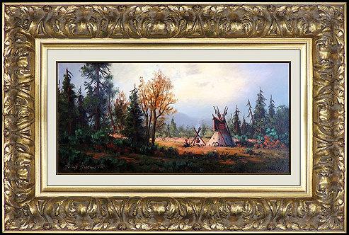 """Cree Hunting Camp"" by Heinie Hartwig"