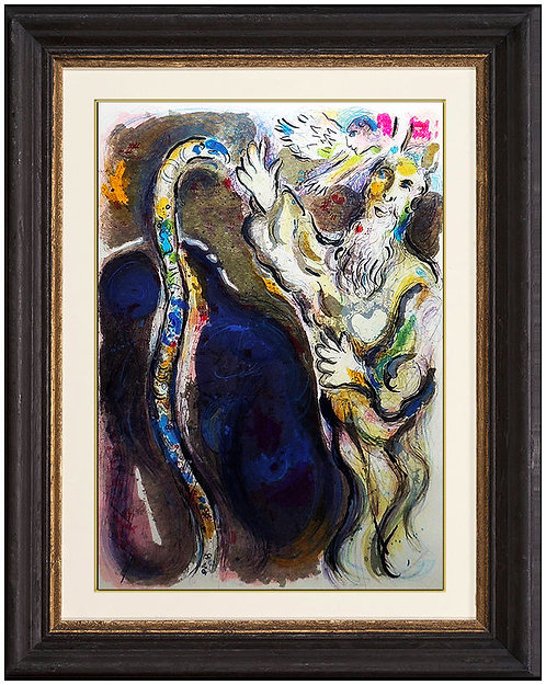 """Moses and the Serpent (M.448)"" by Marc Chagall"