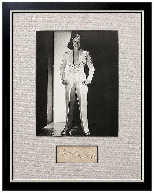 """Signed Paulette Goddard Photograph"""