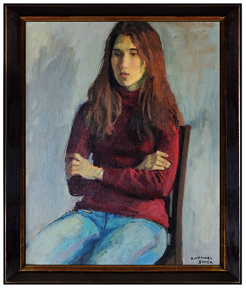 """Original Apathetic Portrait"" by Raphael Soyer"