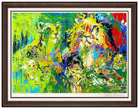 """Lion Family"" by Leroy Neiman"