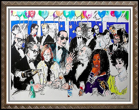 """""""Celebrity Night at Spago"""" by Leroy Neiman"""