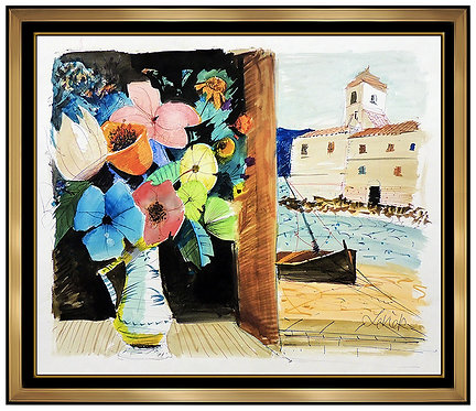 """Original Flowers and the Sea"" by Charles Levier"