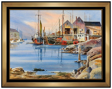 """Original Harbor at Low Tide"" by Allen Ulmer"