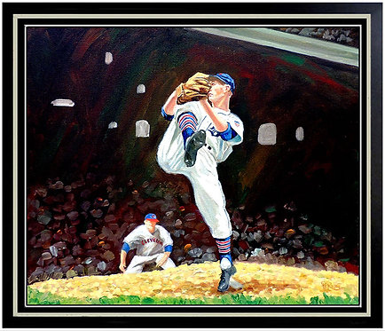 """Hall-Of-Famer Hal Newhouser"" by Dick Perez"