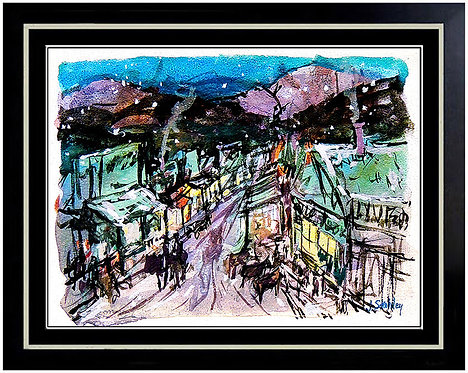 """Western Street Scene"" by Joseph Stahley"