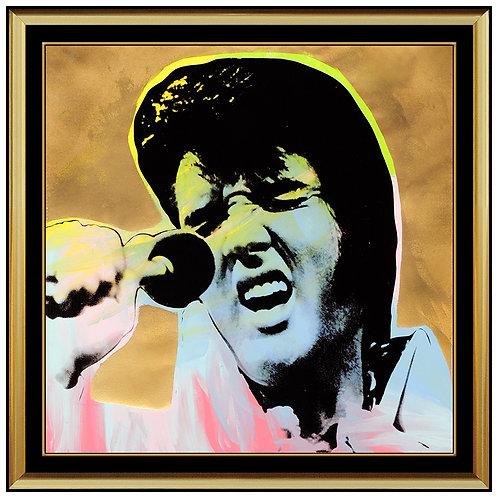 """Elvis in Gold"" by Steve Kaufman"