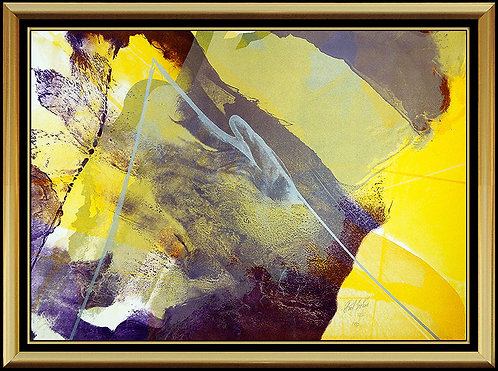 """Purple and Gold Abstract Composition"" by Paul Jenkins"