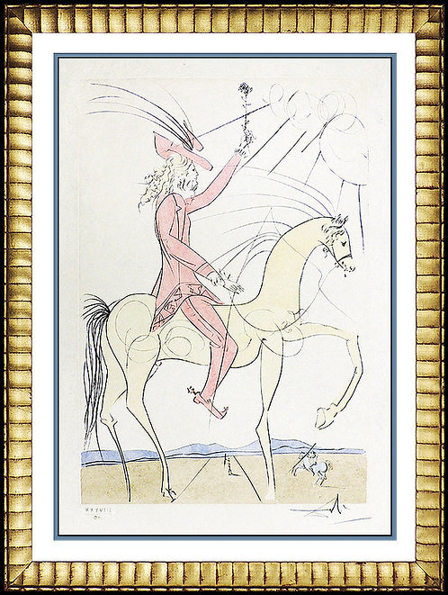 """Cavalier a la Rose"" by Salvador Dali"