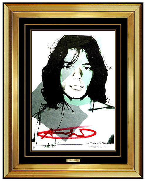 """Mick Jagger (Invitation)"" by Andy Warhol"