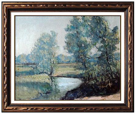 """Original Creek Bend"" by Walter Emerson Baum"