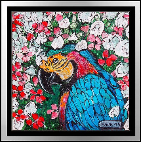 """Original Tropical Macaw"" by Fleur Cowles"